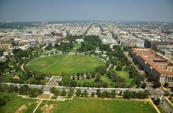 Lucht Mening van het Monument van Washington stock afbeeldingen