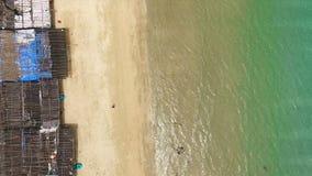 Lucht mening van het strand stock video
