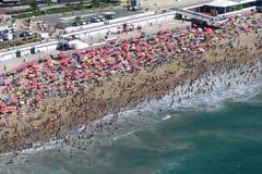 Lucht mening van het strand Stock Afbeeldingen