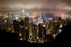 Lucht mening van Hongkong Royalty-vrije Stock Foto