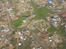 Lucht mening van Juba, Zuid-Soedan stock afbeeldingen
