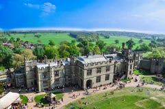 Lucht mening van kasteel Warwick Royalty-vrije Stock Foto
