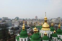 Lucht mening van Kiev Royalty-vrije Stock Afbeelding