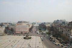 Lucht mening van Kiev Stock Foto's