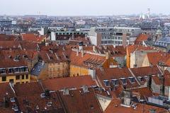 Lucht mening van Kopenhagen Royalty-vrije Stock Foto's