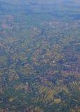Lucht Mening van Landbouwgrond Stock Foto's