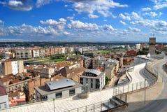 Lucht mening van Lleida Stock Afbeelding