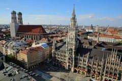 Lucht mening van München Stock Afbeeldingen