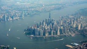 Lucht mening van Manhattan Stock Afbeeldingen