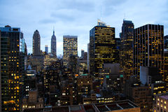 Lucht mening van Manhattan, New York Stock Foto's