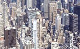 Lucht mening van Manhattan, New York Royalty-vrije Stock Foto's