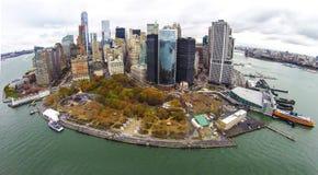 Lucht Mening van Manhattan Van de binnenstad Royalty-vrije Stock Fotografie