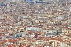 Lucht mening van Marseille royalty-vrije stock afbeelding