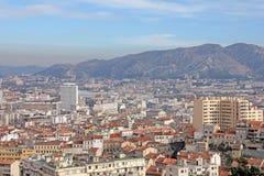 Lucht mening van Marseille royalty-vrije stock fotografie