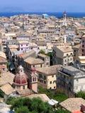 Lucht mening van Mediterrane stad Royalty-vrije Stock Foto's