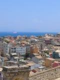 Lucht mening van Mediterrane stad Royalty-vrije Stock Afbeeldingen
