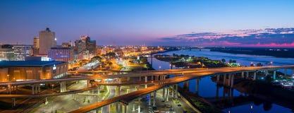 Lucht mening van Memphis van de binnenstad Stock Foto