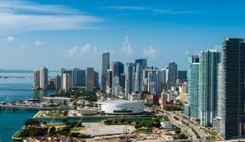 Lucht mening van Miami Van de binnenstad stock foto