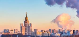 Lucht mening van Moskou Stock Afbeeldingen