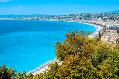 Lucht mening van Nice, Frankrijk Royalty-vrije Stock Foto
