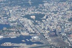 Lucht mening van Oslo, Noorwegen stock foto