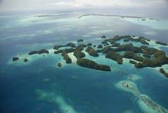 Lucht mening van Palau beroemde zeventig eilanden Stock Foto's