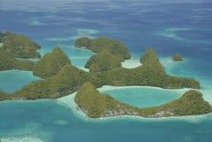 Lucht mening van Palau beroemde zeventig eilanden stock afbeeldingen