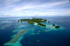 Lucht mening van Palau Eilanden Stock Afbeeldingen