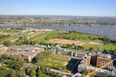 Parc des Champs-de-Bataille, de Oude Stad van Quebec, Canada Stock Fotografie