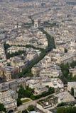 Lucht mening van Parijs Royalty-vrije Stock Fotografie