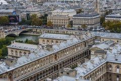 Lucht mening van Parijs, Frankrijk stock afbeeldingen
