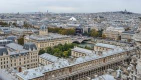 Lucht mening van Parijs, Frankrijk royalty-vrije stock afbeeldingen