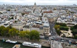 Lucht mening van Parijs, Frankrijk royalty-vrije stock foto's