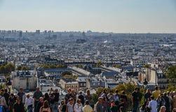 Lucht mening van Parijs, Frankrijk stock foto's