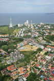 Lucht mening van Pattaya Stad, Chonburi, Thailand. Stock Foto's