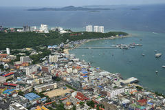 Lucht mening van Pattaya Stad, Chonburi, Thailand. Royalty-vrije Stock Afbeeldingen
