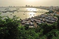 Lucht mening van Pattaya Stad, Chonburi, Thailand. Stock Foto
