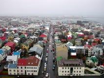 Lucht mening van Reykjavik Stock Foto