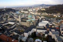 Lucht Mening van Salzburg Stock Foto