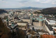 Lucht Mening van Salzburg, Oostenrijk Royalty-vrije Stock Foto