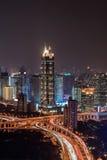 Lucht mening van Shanghai stock fotografie