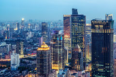 Lucht mening van Shanghai royalty-vrije stock afbeeldingen