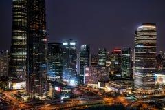 Lucht mening van Shanghai royalty-vrije stock foto