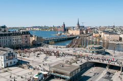lucht mening van Stockholm Royalty-vrije Stock Foto
