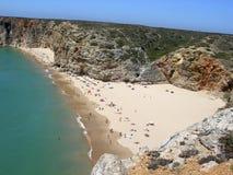 Lucht mening van strand Stock Afbeelding
