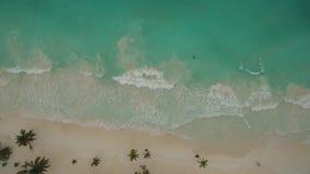 Lucht mening van strand stock videobeelden