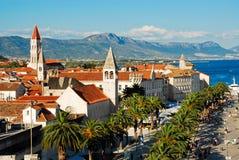 Lucht mening van Trogir, Kroatië Stock Afbeeldingen