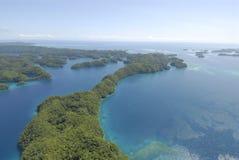 Lucht mening van tropische eilanden royalty-vrije stock afbeelding