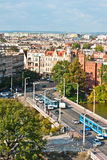 Lucht mening van Universitaire brug, Wroclaw, Polen Royalty-vrije Stock Fotografie