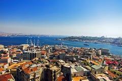 Lucht mening van van toren Galata in Istanboel Stock Foto